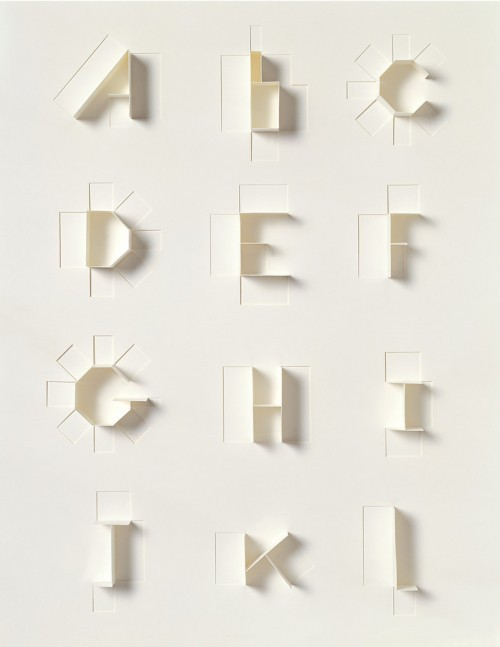 mini-mal-me:  Paper Alphabet for Sculpture Today