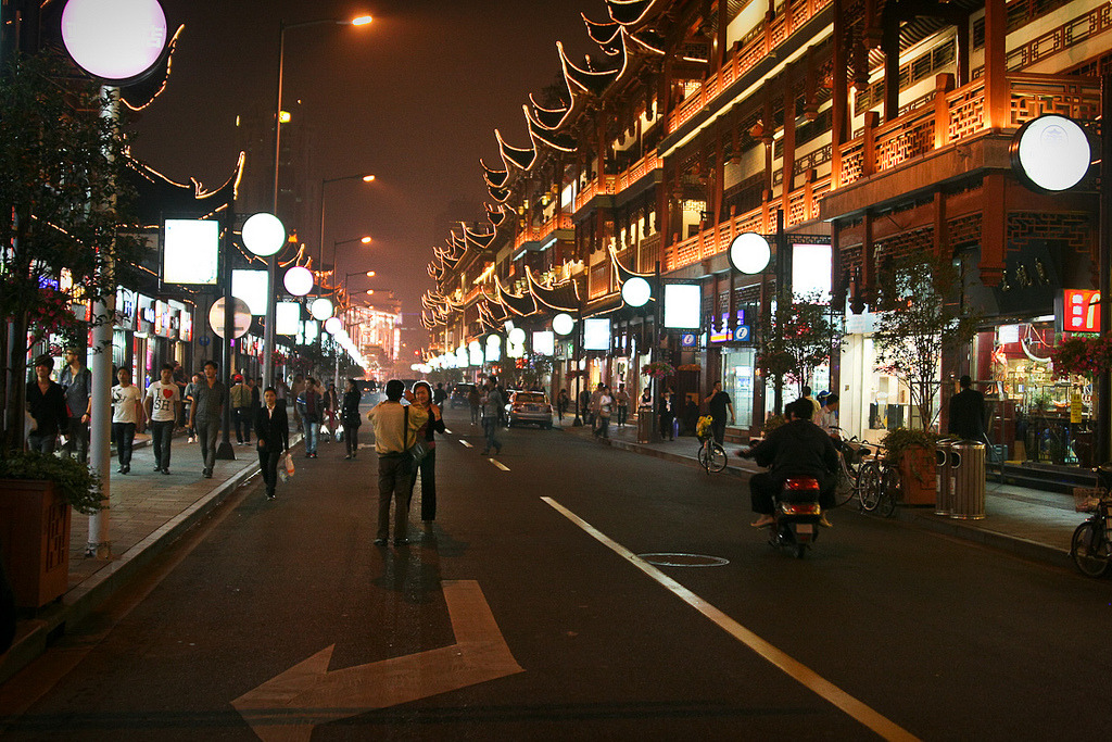'Old town' tourist street in Shanghai 2011