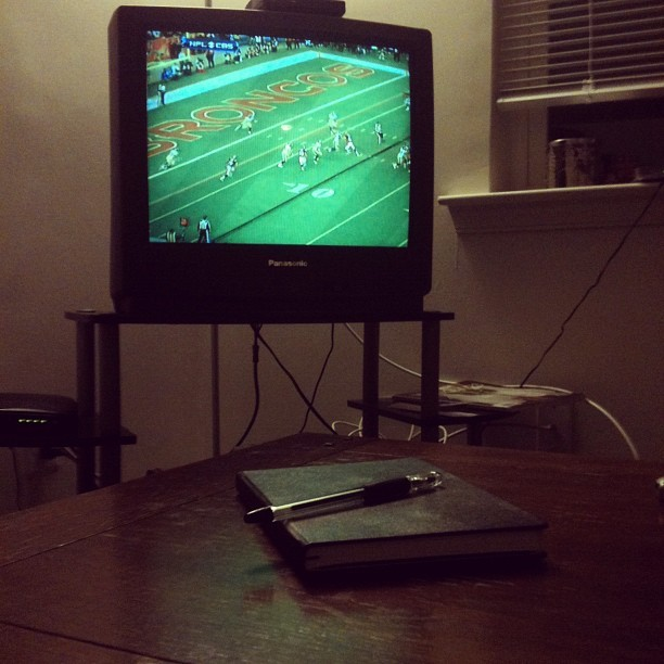 Writing and Football - Sunday 1/8 (Taken with instagram)
