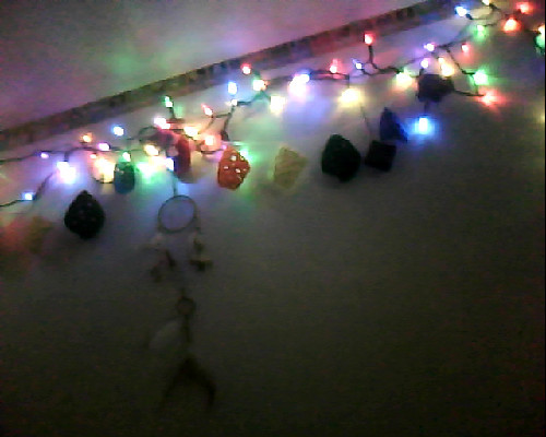 New string of lights. -Topknot