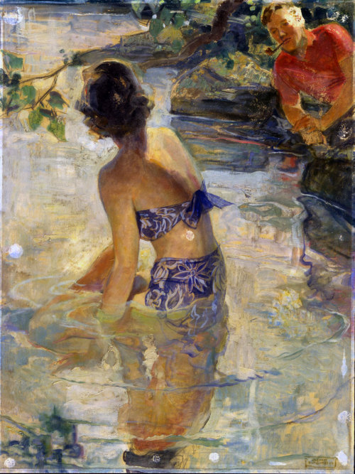 The Bather, ca. 1935, by John Lagatta