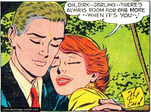 comicallyvintage:  Looks like that threesome is a dead cert Dirk…