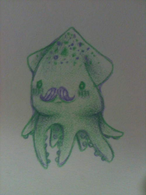 Mustache squid :3 can't remember if I've posted these things before