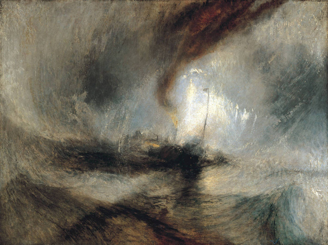 J. M. W. Turner, Snowstorm Oil on canvas 1842