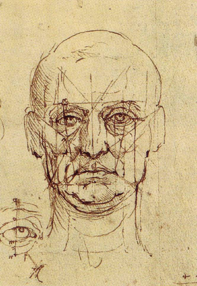 Proportions of the Face and Eye, ca. 1489.