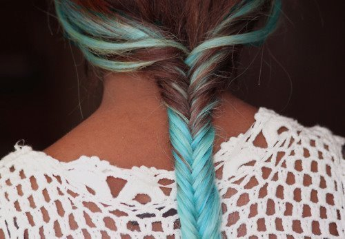 baby blue braid