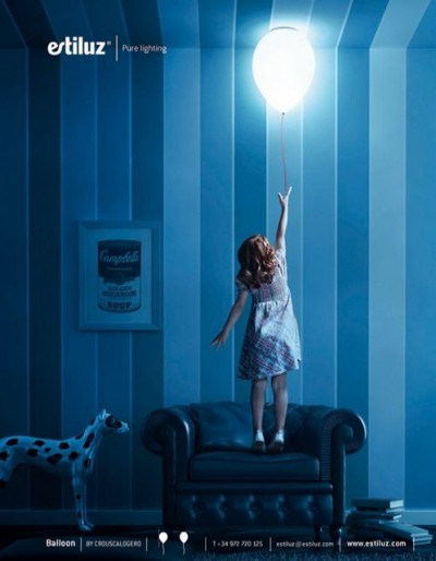 I'd love to have this lamp in my kid's room one day. The Balloon Lamp by Spanish designers CrousCalogero for Estiluz.