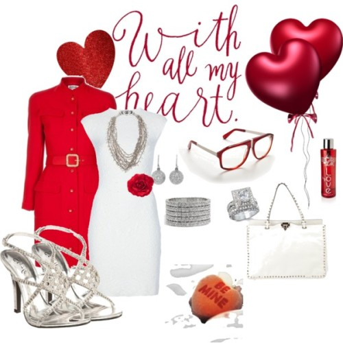 Be Mine by crazyguera12 featuring a shell necklaceAlexander mcqueen dress, £840Chanel vintage coat, £1,519Valentino studded handbag, £1,399Jennifer Meyer Jewelry diamond jewelry, $12,000Philippe Audibert crystal jewelry, $885Goti shell necklace, £865Emerald cut ring, $88Unisex sunglasses, 275 AUDH M hair accessory, £1.99LOVE H20 Limited Edition Bottle (700ml), £26