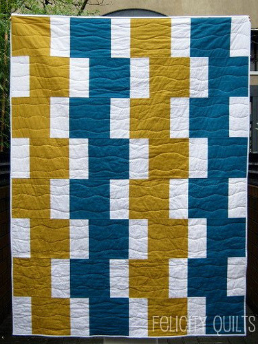 Easy Going Modern Quilt by Felicity, an original design featured on her blog. She is also offering an online workshop starting February 2nd.