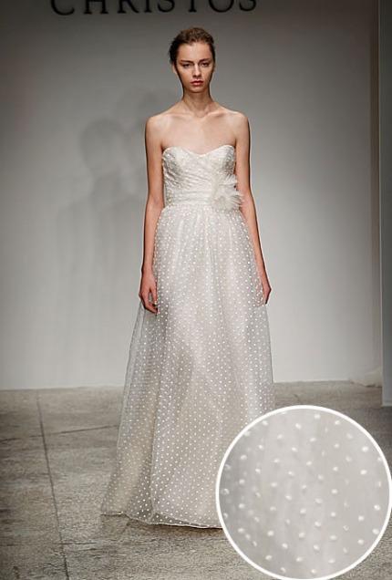 polka dot wedding dresses
