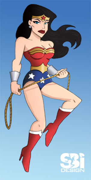 Wonder woman. And you thought blondes were the only sexy ones.