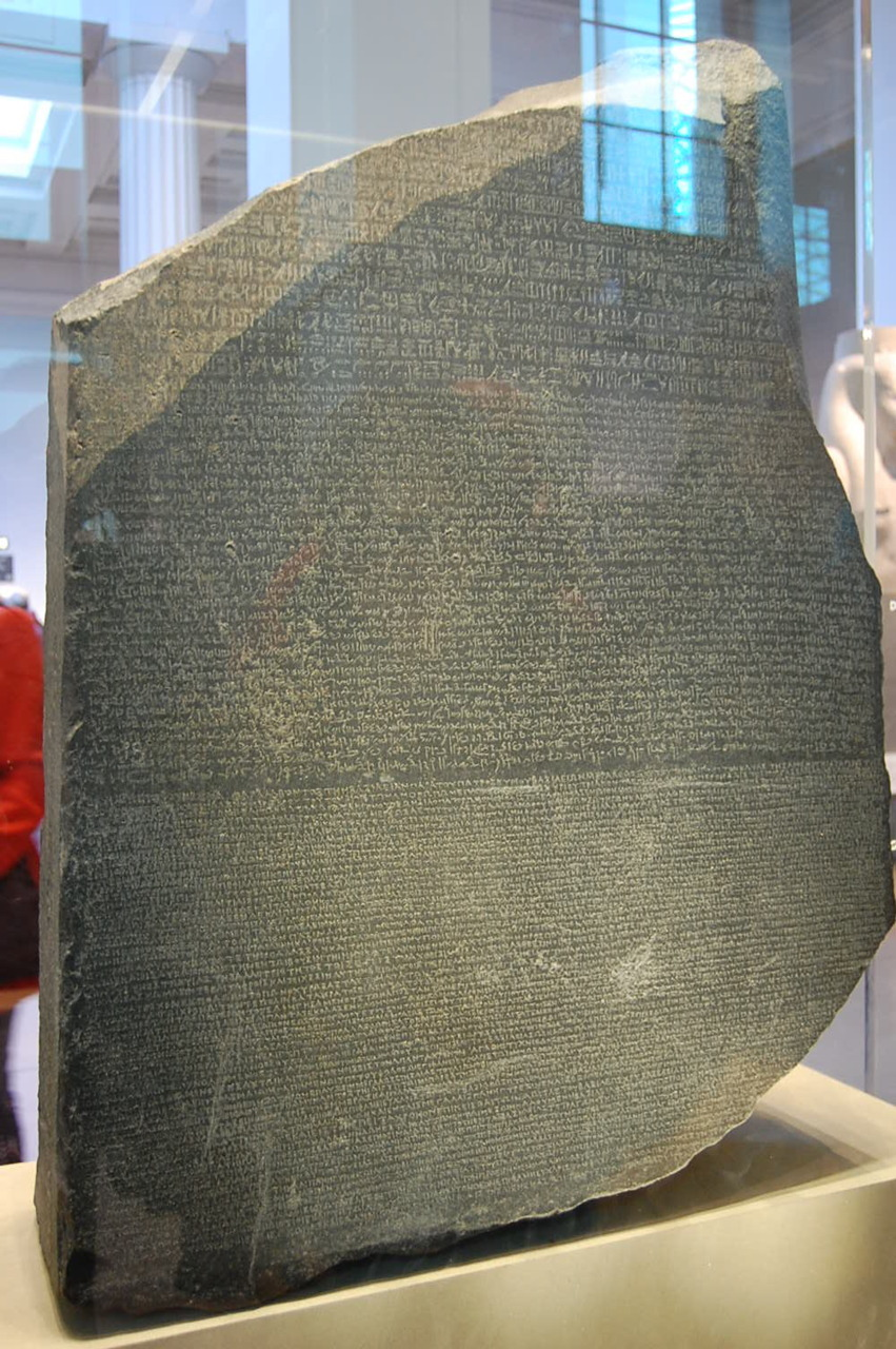 1.2.2011 British Museum, London, England Rosetta Stone