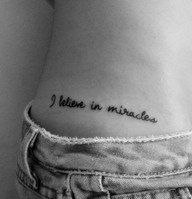 "i want this except instead of ""miracles"" i want it to say ""fairytales."""