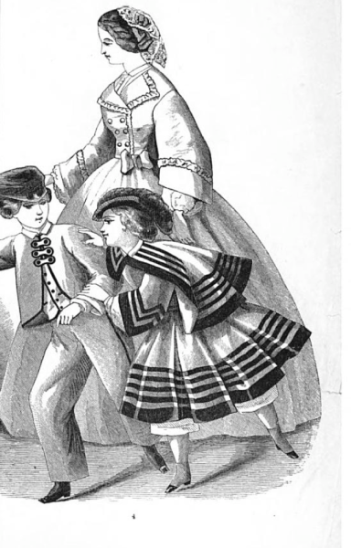 Children's fashions from Godey's, March 1861