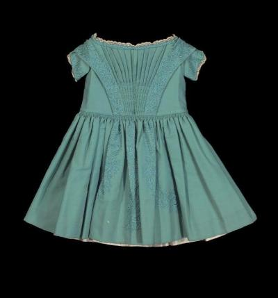 Wool child's dress, MFA Boston, 1860