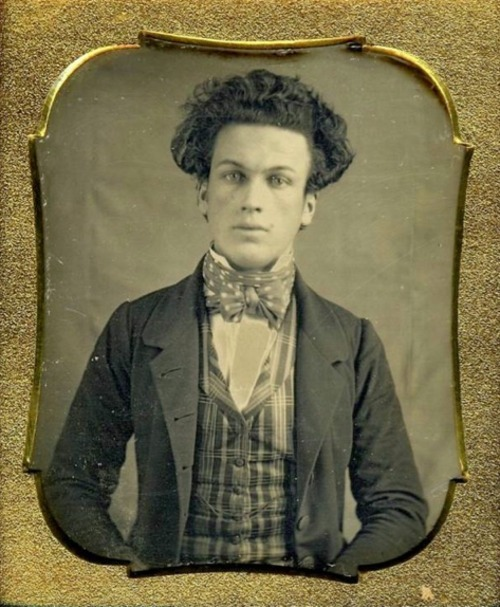 Unknown young man with light eyes and dark hair, 1855. Submitted by Sarah Nehama