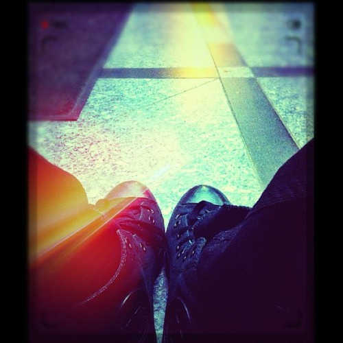 #converse #chucks #waiting #instagram #twitter #facebook #random warming up from the cold (Taken with Instagram at Cliffside Views)
