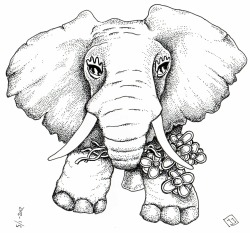 I Made - An elephant with flowers