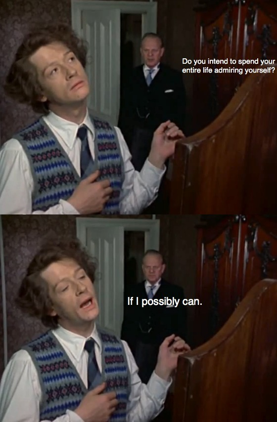John Hurt as Quentin Crisp in 'The Naked Civil Servant'.