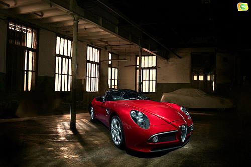 carpr0n:  Cleverly hidden Starring: Alfa Romeo 8C Spider (by Bandal)