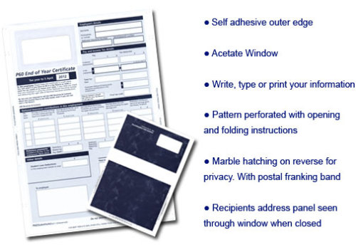 P60 Self Seal Mailers - compatible with Sage and Pegasus software