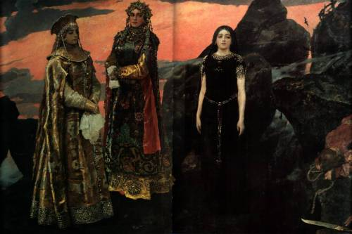 zuppadivetro:  fuckyeahrussianartnouveau:  Viktor Vasnetsov Three princesses of the Underworld 1884  -