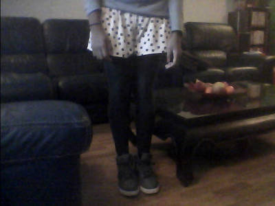 my legs, hello, i love my nike shoes (webcam quality)