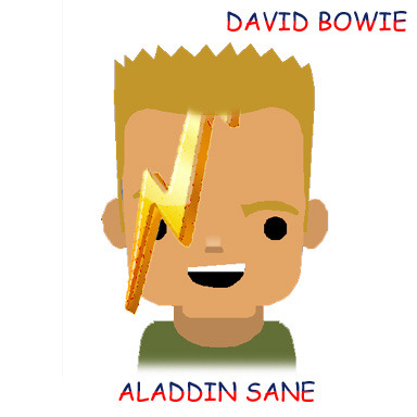 clipartcovers:  Aladdin Sane by David Bowie. Original. Requested by aloneintoronto.   love this