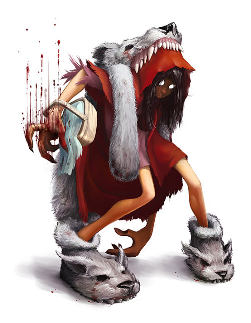 red-she-said:  Red Hood - Jack in Twadro by Ivik  Wish I had some wolf shoes.