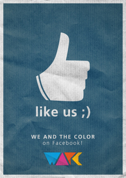 weandthecolor:  Find us on Facebook If you like the stuff we post, you can follow WE AND THE COLOR on Facebook too. Just klick the Like-Button at the top of the page to stay up to date with our latest posts, add comments, discuss or upload your own images and videos to our facebook page. We would be glad to meet you there, so let's stay connected on Facebook. posted byW.A.T.C. // Facebook // Twitter // Google+
