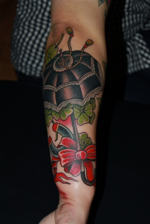 Hey, that's my swollen arm on Tumblr! Beautiful work by Grez at Kings Ave Tattoo, NYC. Can't wait to go back this summer!