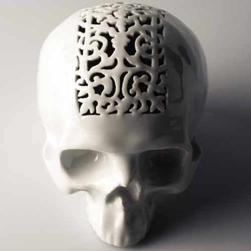 Porcelain Skull Money Box (via A+R Store)