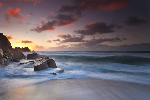 silas216:  Porthcurno Sunrise by antonyspencer on Flickr.