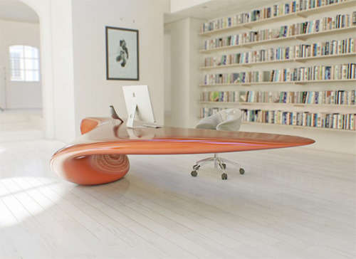 "Volna Table by Nuvist  ""Sci-Fi, New Age, modern #swag"""