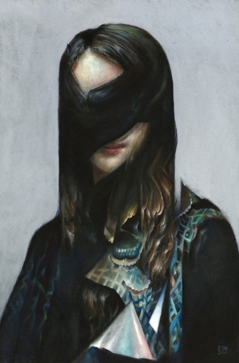 "actegratuit:  Esao Andrews ""Untitled (with veil)"" - oil on panel (2011)"
