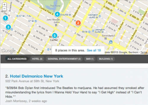(via Follow The Life Of John Lennon In NYC By Using Foursquare | The Strut)