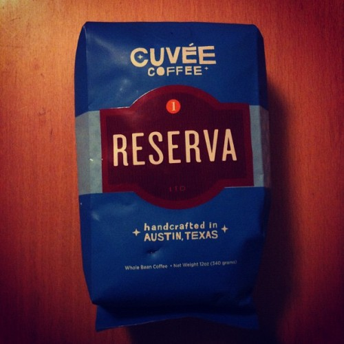 "Cuvée #Reserva - Just had a French press cup of this #ElSalvador blend that includes #SantaRita Peaberry beans. #Whoa! What a rich, full bodied #coffee. I mentioned to the Cafe Medici staff that it was like a big cab & they laughed because the description on the bottom of the bag says, ""Big cabernet like body…"" The tall guy @ Medici tried some of it when he brewed my cup and he was surprised at the Reserva's fullness. I HIGHLY recommend trying a cup or getting your hands on the beans. #YeahItsThatGood #Cuvee #ATX #CoffeeIsMyCrack #Cafe  (Taken with instagram)"
