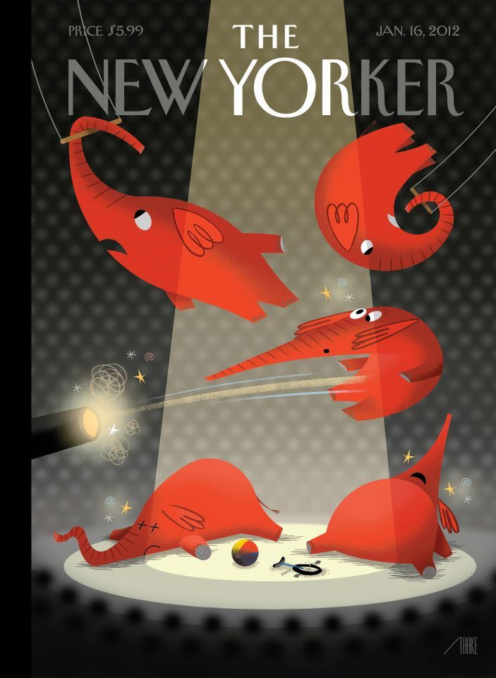 Bag's Take-Away: Circus? More like, circular firing squad. newyorker:  In  this week's issue: Connie Bruck on Philip Anschutz and Tim Leiweke; John Seabrook on YouTube TV; Wendell Steavenson on Alaa Al  Aswany; and what Santorum's popularity means for the G.O.P.  primaries: http://nyr.kr/Ln2M