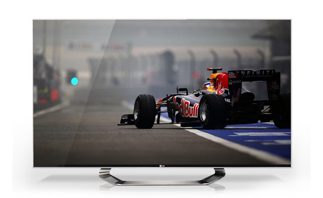 LG shows new HDTV line-up, one at 55-inch, 5mm bezel Today LG has revealed at CES 2012 its new lineup of HDTVs, the biggest being a massive 55-inch OLED 3D HDTV. LG says the 2012 series (LM9600, LM8500, LM7600 and LM6700) have been developed with Cinema Screen technology, which…[read more]