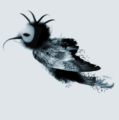 thewingassignment:  Luna The Moon Bird. Created by Nina Farrell for The Wing Assignment.