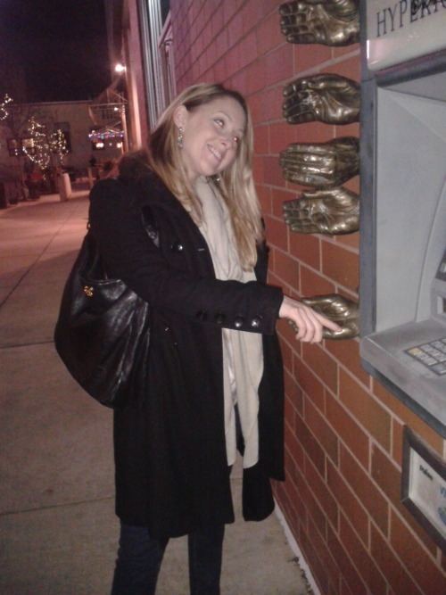 Watch out for those hands by the atm