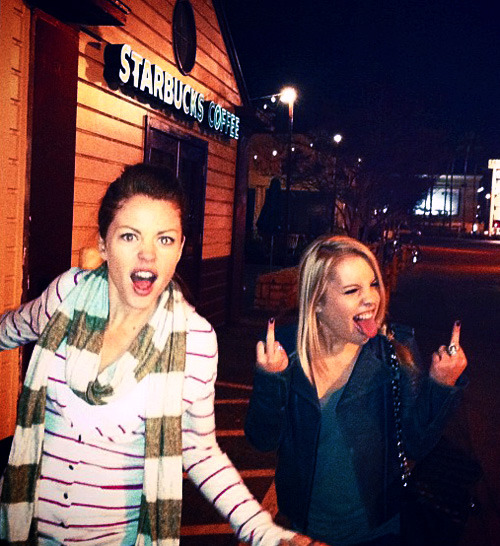 neniexx:  Kristen Alderson:  Dammit LA! Closing Starbucks so early!! LOL