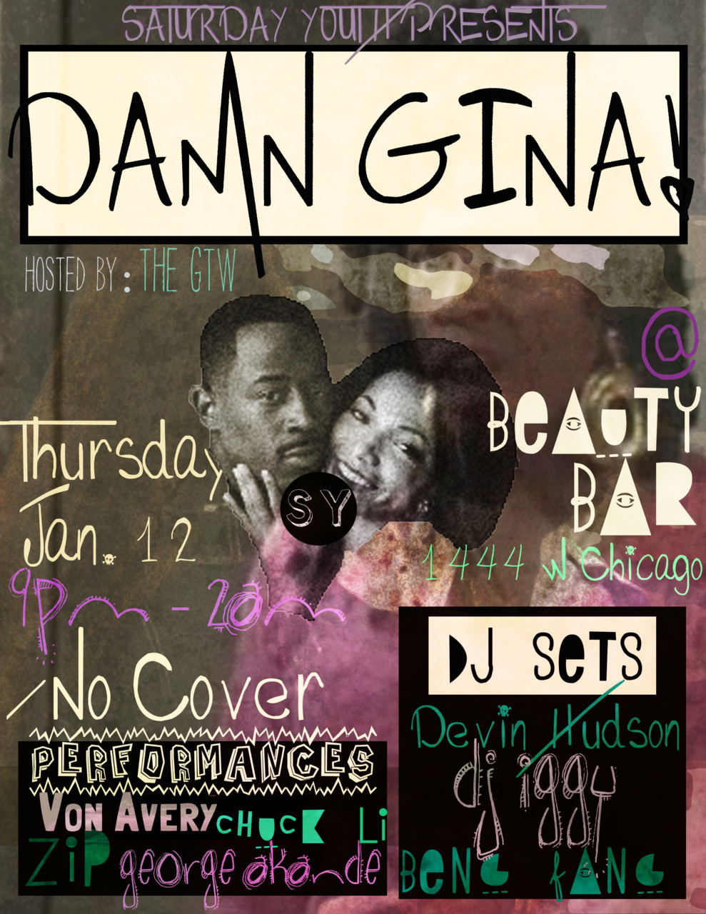 Our free party #DAMNGINA @beautybchicago this thursday w/ @djiggster @sirdevinhudson @bengfang @chicagolives @ziptopher @vonavery + more. No Cover. Hosted by @TheGTW.