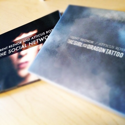 xstaticprocess23:  Trent Reznor & Atticus Ross are helping me do my work. (Taken with instagram)