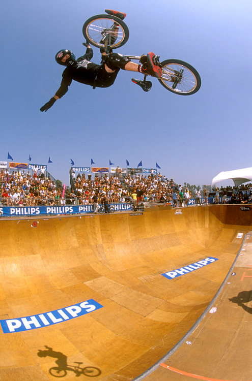 Happy 40th to Mat Hoffman, vert and street pioneer, BMX legend, and all-around badass. Enjoy the next 40, Mat. (Photo by Jared Souney.)