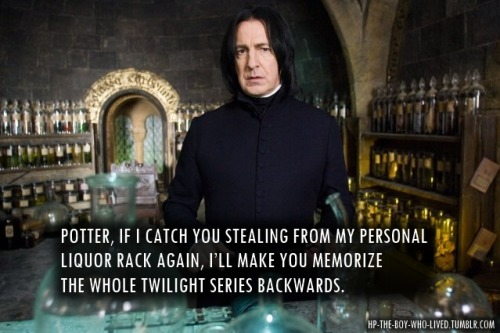 hp-the-boy-who-lived:  Snape's worst punishment.