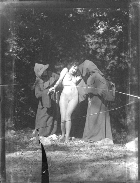 Beware the monks  ~ William Mortensen, American (1897-1965) via