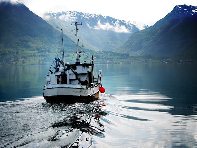 somewherebeneathyourfeet:  Fjord Fisher Boat 2 by VelvetJAM on Flickr.Fjord Fisher Boat 2 by VelvetJam
