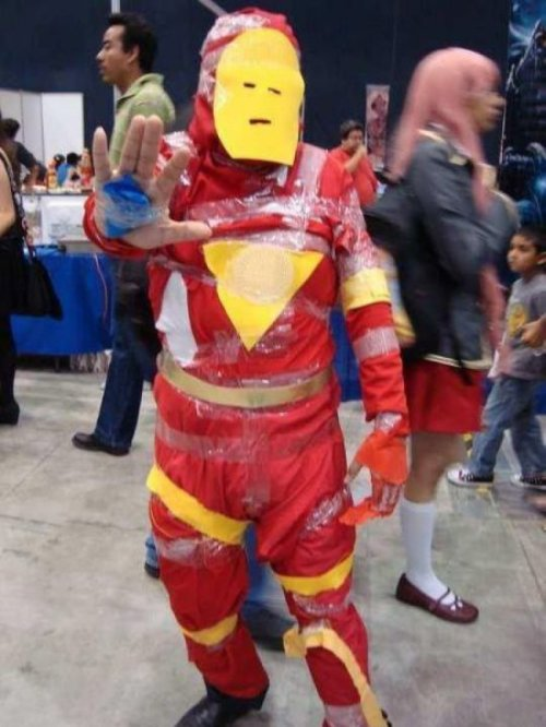 collegehumor:   Worst Iron Man Ever   It still took him 2 full days to put it together.