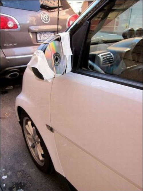 "Ghetto Car Side Mirror Now he'll have to listen to the radio instead of ""Now That's What I Call Music! Volume 78."""